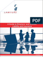 231481 a Guide to Directors and Officers Liability and Insurance - PDF