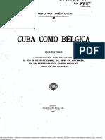 M Isidro Mendez. Cuba como Belgica. 1918