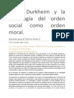 Durkheim - Resumen