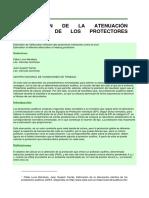 ESTIMACIÓN DE LA ATENUACIÓN EFECTIVA DE LOS PROTECTORES AUDITIVOS