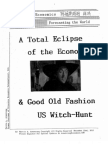 A Total Eclipse of the Economy & Good Old Fashion US Witch Hunt 12-22-2010
