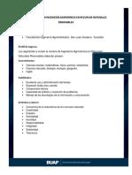 BUAP Lic. en Ingeniería Agro Recursos Naturales Renovables