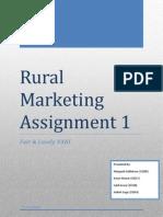 Rural Marketing Assignment 1