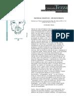 Material didático - um depoimento
