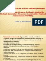 Exercitarea profesiei de asistent  medical generalist