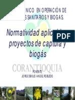 Normatividad biogas