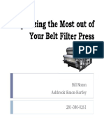 Squeezing the Most out of Your Belt Filter Press