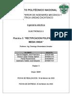 RECTIFICACION POLIFÁSICA DE MEDIA ONDA