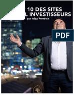 Alex Ferreira- TOP 10 des sites spécial investisseurs
