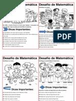 4º  E 5º ANO Desafios matemáticos