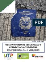 Boletín Digital 1. Migración venezolana