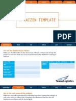 Yusen Logistics' Kaizen Template-
