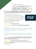 Resumé Management et Gestion de projet