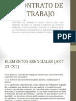 PRESENTACION CONTRATO DE TRABAJO