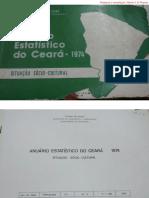 Anuário Estatístico do Ceará 1974