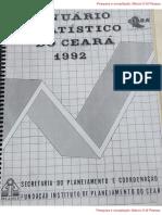 Anuário Estatístico do Ceará 1992