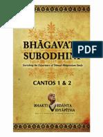 Bhagavata Subodhini. Canto 1&2.pdf
