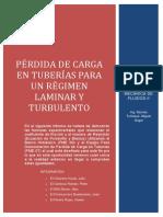 3. PÉRDIDAS DE CARGA POR FRICCIÓN