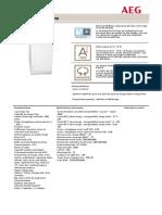 Aeg Lave-linge l88561tl Datasheet