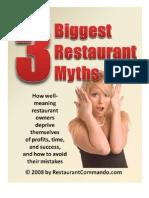 3 Restaurant Myths