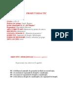 Proiect didactic  Matematica clasa a 3-a