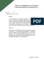 ESPAÇOS DE VIVÊNCIA E DIFERENTES CONCEPÇÕES DO TEMPO
