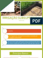 Aula 10_Irrigação Subsuperficial
