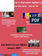 January 2019 2nd Week Current Affairs Update