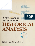 Berkhofer - A behavioral approach to historical analyisis.pdf