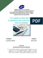 CLASIFICACION DE LAS PARTIDAS DE LOS ESTADOS FINANCIEROS - UNIDAD II - 27-04-20