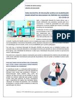 Orientações para elaboração de relatório-Pandemia