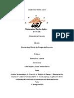 Tarea número semana 4 Analizar el documento de Proceso de Gestión de Riesgos y Seguros en las empresas.docx