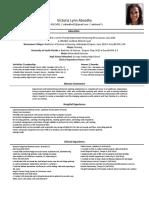 victorias new resume
