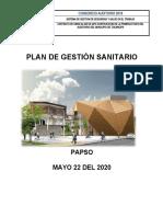 PAPSO - PLAN DE GESTIÓN SANITARIO PARA OBRA