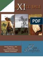 Topp Herefords Volume Bull Sale XI 2011