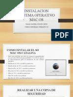 INSTALACION SISTEMA OPERATIVO MAC OS