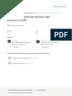 The challenge of digital art preservation - Lino García y Pilar Montero