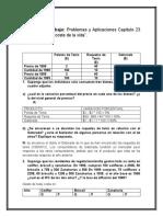 """Problemas y Aplicaciones Capítulo 23 """"La medición del coste de la vida""""."""