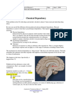 Chemical Dependency and Anxiety Disorder