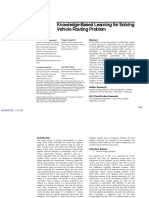 Knowledge-Based Learning for Solving Vehicle Routing Problem