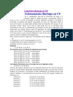 Método de Ordenamiento Burbuja en C