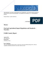 Gain report, Food and Agricultural Import Regulations and Standards - Narrative_Monterrey ATO_Mexico_12-19-2014