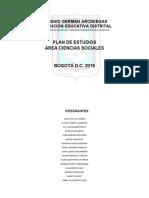 Plan de Estudios c. Sociales 2019