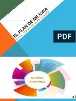 El plan de mejora diapositiva