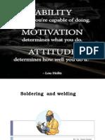 Soldering  and welding