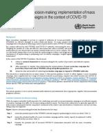 WHO 2019 NCoV Framework Mass Vaccination 2020.1 Eng