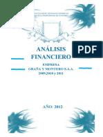 Analisis Financiero de Grana y Montero