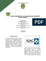 PUNTOS GEODESICOS LOCALIZADOS EN EL MUNICIPIO DE FACATATIVÁ