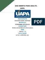 TAREA 7 Y 8 TECNICA DE ENTREVISTA PSICOLOGICA