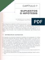 SUPUESTOS O HIPÓTESIS 7